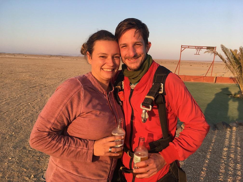 Namibialiebe Fallschirmspringen in Namibia